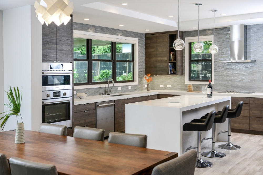 Kitchen design using Pono Stone products
