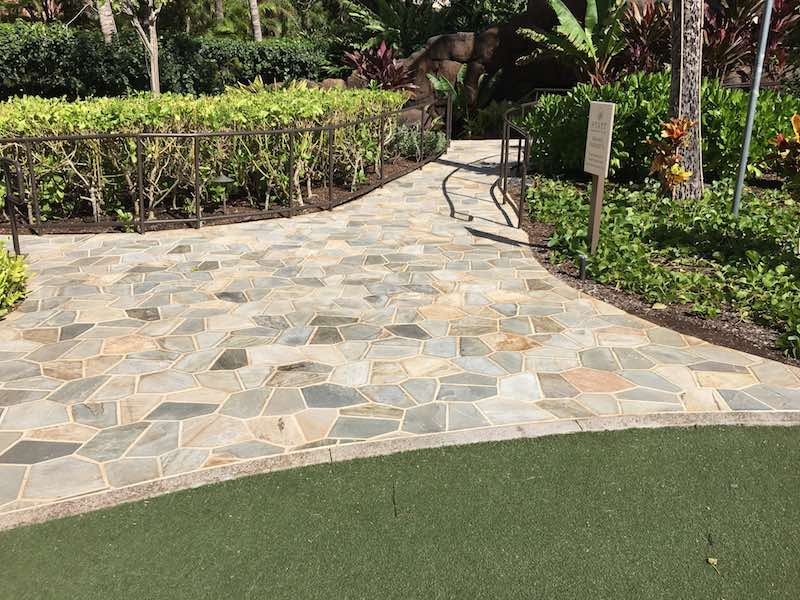 The Oyster Classic Quartzite Stone Used For The Garden Paths, Enhancing The Landscape  Design.